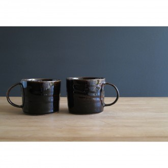Black Stoneware Coffee Cup Set | Cu_2021_3_set3