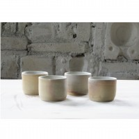 A wood-fired porcelain coffee cup set |Cu_2020_3_set_1