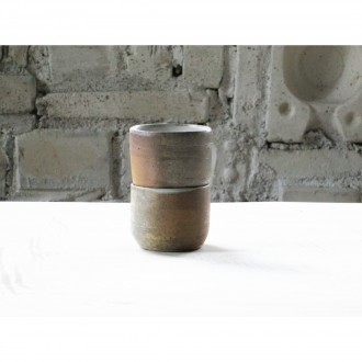 A wood-fired stoneware coffee cup set |Cu_2020_3_set_2
