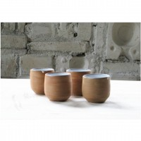 A bronze stoneware coffee cup set | Cu_2020_1_set_1