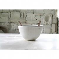 A white porcelain salad bowl | Bo_2020_09_set_2