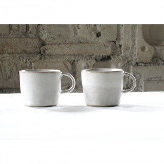 A white Porcelain Coffee Cup Set | Cu_2021_01_set2