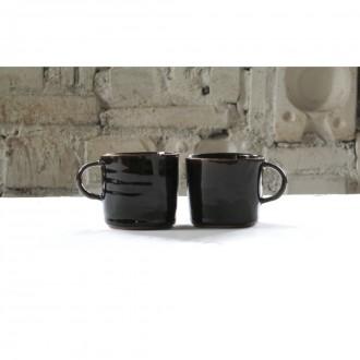 Black Stoneware Coffee Cup Set | Cu_2021_01_set3