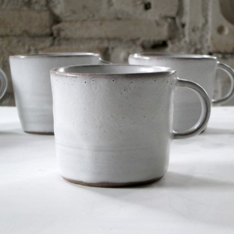 A white Stoneware Coffee Cup Set | Cu_2021_01_set4